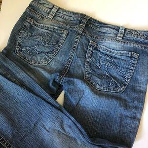 Silver Dark Wash Denim Alex Jeans